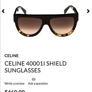 CELINE 40001l SHIELD SUNGLASSES